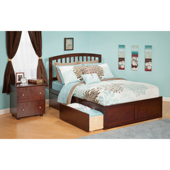 Buy Atlantic Furniture Urban Lifestyle Richmond Twin Bed w/ Flat Panel Footboard and Urban Bed Drawers on sale online