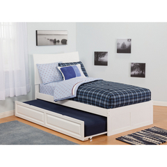 Buy Atlantic Furniture Urban Lifestyle Soho Twin Bed w/ Flat Panel Foot Board and Urban Trundle Bed on sale online