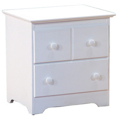Buy Atlantic Furniture Windsor 2-Drawer Nightstand in White on sale online
