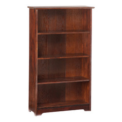 Buy Atlantic Furniture Windsor Bookshelf 55 Inch in Antique Walnut on sale online