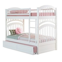 Buy Atlantic Furniture Windsor Bunk Bed w/ Trundle in White on sale online