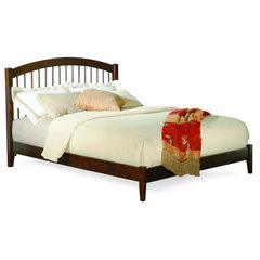 Buy Atlantic Furniture Windsor Platform Bed w/ Open Footrail in Antique Walnut on sale online