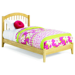 Buy Atlantic Furniture Windsor Platform Bed w/ Open Footrail in Natural Maple on sale online