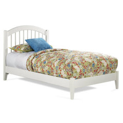 Buy Atlantic Furniture Windsor Platform Bed w/ Open Footrail in White on sale online