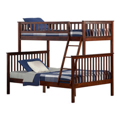 Buy Atlantic Furniture Woodland Bunk Bed Twin/Full in Antique Walnut on sale online