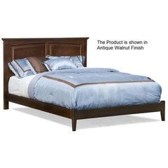 Buy Atlantic Furniture Monterey Bed w/ Open Footrail in White on sale online