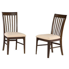 Buy Atlantic Furniture Montreal Dining Chair w/ Oatmeal Seat Cushions (Set of 2) on sale online
