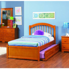 Buy Atlantic Furniture Windsor Bed w/ Flat Panel Footboard in Caramel Latte on sale online