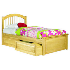 Buy Atlantic Furniture Windsor Bed w/ Raised Panel Footboard in Natural Maple on sale online