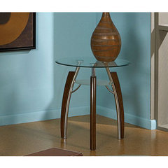 Buy Steve Silver Atlantis 24x24 Round End Table in Cherry on sale online