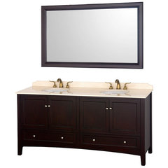 Buy Wyndham Collection Audrey 72.25 Inch Ivory Marble Top Double Sink Vanity Set on sale online