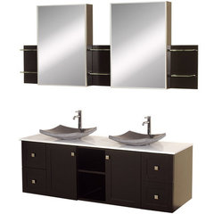 Buy Wyndham Collection Avara 60 Inch White Stone Top Double Sink Vanity Set on sale online