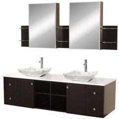 Buy Wyndham Collection Avara 72 Inch White Stone Top Double Sink Vanity Set on sale online