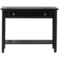 Buy Cooper Classics Bar Harbour Accent Table in Black Matte Distressed on sale online