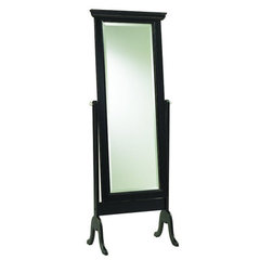 Buy Cooper Classics Bar Harbour 68x25 Cheval Mirror in Black Matte Distressed on sale online