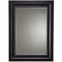 Buy Cooper Classics Bar Harbour 46x34 Mirror in Black Matte Distressed on sale online