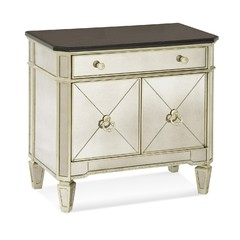 Buy Bassett Mirrors Borghese Mirrored Chairside Commode on sale online