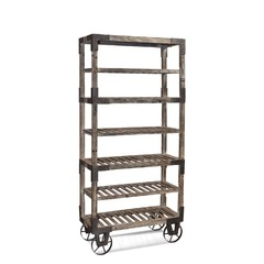 Buy Bassett Mirrors Foundry Industrial Rack in Weathered Gray on sale online