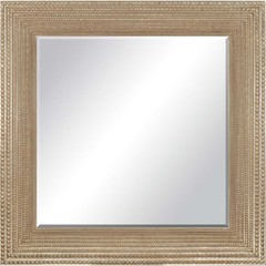 Buy Paragon Beaded Washed Gold Modern 44x44 Mirror  on sale online