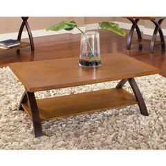 Buy Steve Silver Beamont 48x28 Cocktail Table in Rich Dark Cherry on sale online