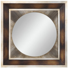 Buy Cooper Classics Bella 34 Inch Square Mirror in Brown on sale online