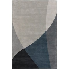 Buy Chandra Rugs Bense Garza Hand-Tufted Contemporary Blue Rug - BEN3003 on sale online