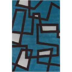 Buy Chandra Rugs Bense Garza Hand-Tufted Contemporary Blue Rug - BEN3005 on sale online