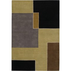 Buy Chandra Rugs Bense Garza Hand-Tufted Contemporary Brown Rug - BEN3023 on sale online