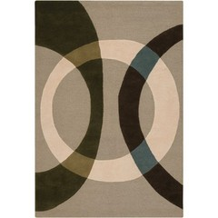 Buy Chandra Rugs Bense Garza Hand-Tufted Contemporary Ivory Rug - BEN3021 on sale online