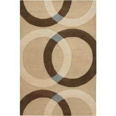 Buy Chandra Rugs Bense Garza Hand-Tufted Contemporary Ivory Rug - BEN3022 on sale online