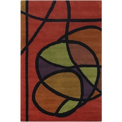 Buy Chandra Rugs Bense Garza Hand-Tufted Contemporary Red Rug - BEN3013 on sale online