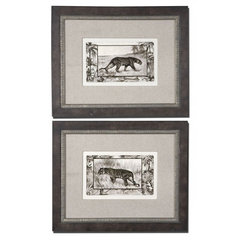 Buy Uttermost Big Cats 24x19 Wall Art I, II (Set of 2) on sale online