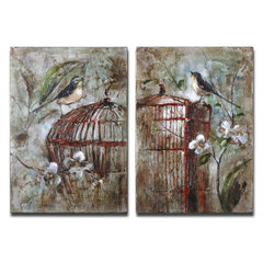 Buy Uttermost Birds in a Cage 18x26 Canvas Art I, II (Set of 2) on sale online
