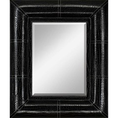 Buy Paragon Black Faux Leather Frame 27x32 Mirror  on sale online