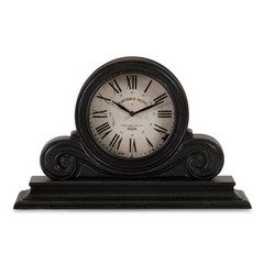 Buy IMAX Worldwide Black Mantle Clock w/ White Face and Roman Numerals on sale online
