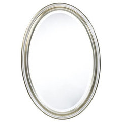 Buy Cooper Classics Blake 32x22 Oval Mirror in Antique Silver on sale online