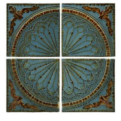 Buy IMAX Worldwide Blue Quarter Medallion Wall Panels (Set of 4)  on sale online