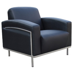 Buy Boss Office Chairs Black Caressoftplus Lounge Chair w/Chrome Frame on sale online