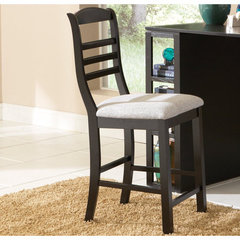 Buy Steve Silver Bradford Counter Height Stool in Rich Black on sale online