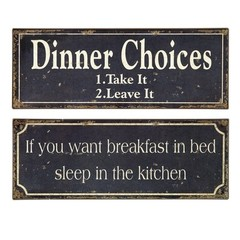 Buy IMAX Worldwide Breakfast and Dinner Signs (Set of 2) on sale online