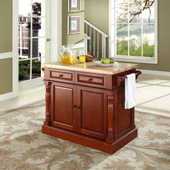 Buy Crosley Furniture 48x23 Butcher Block Top Kitchen Island in Classic Cherry on sale online