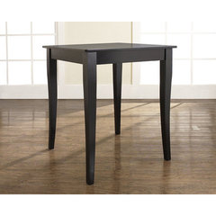 Buy Crosley Furniture Cabriole Leg 32x32 Pub Table in Black on sale online