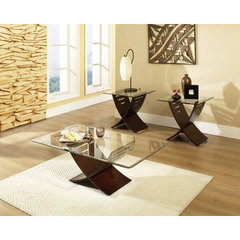 Buy Steve Silver Cafe 3 Piece Occasional Table Set in Espresso on sale online