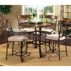 Buy Steve Silver Callistro 5 Piece 45 Inch Round Counter Height Set on sale online