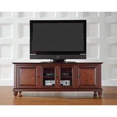 Buy Crosley Furniture Cambridge 60x18 Low Profile TV Stand in Vintage Mahogany on sale online