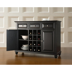 Buy Crosley Furniture Cambridge Buffet Server w/ Wine Storage in Black on sale online