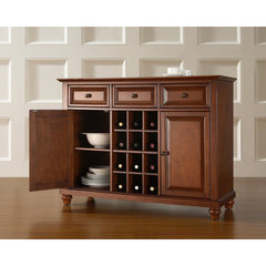 Buy Crosley Furniture Cambridge Buffet Server w/ Wine Storage in Classic Cherry on sale online