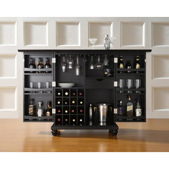 Buy Crosley Furniture Cambridge Expandable Bar Cabinet in Black on sale online