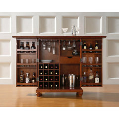 Buy Crosley Furniture Cambridge Expandable Bar Cabinet in Classic Cherry on sale online