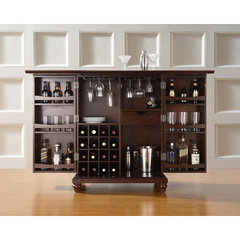 Buy Crosley Furniture Cambridge Expandable Bar Cabinet in Vintage Mahogany on sale online